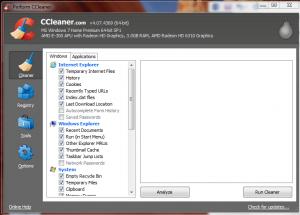 CCleaner Menu